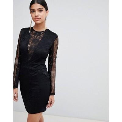 アックスパリ レディース ワンピース トップス AX Paris Lace Bodycon Dress