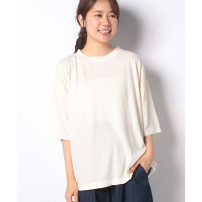 【サマンサ モスモス】【SM2】カバーリング天竺ハイネックTシャツ