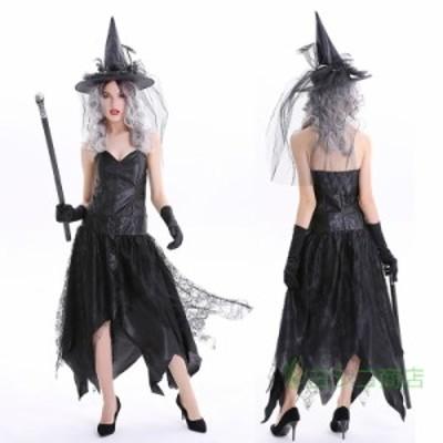 ハロウィン レディース コスチューム  魔女 ワンピース  コスプレ 魔女服 仮装 パーティー ステージ仮装