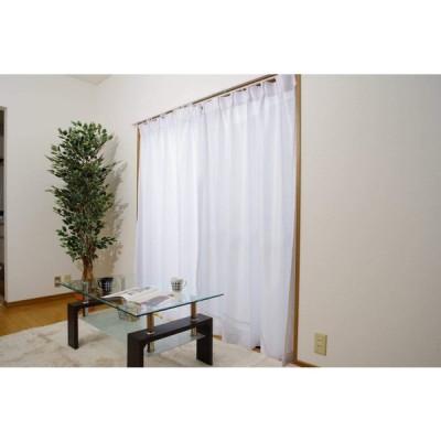 日本製 UVカット率90% レースカーテン「UVプロテクション」 UNI ウェイブ(#9811331)100×203cm2枚組 遮熱 ミラー加工