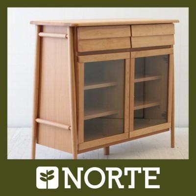 北欧家具 サイドボード 無垢材 色味があたたかくナチュラルな質感の美しいサイドボード NRT-100SB-4005AL/500557