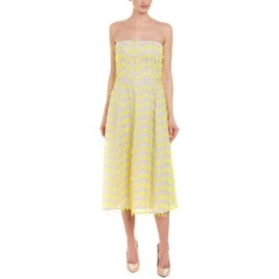 キャロライナヘレラ レディース ワンピース トップス Carolina Herrera Silk-Blend A-Line Dress mint & yellow