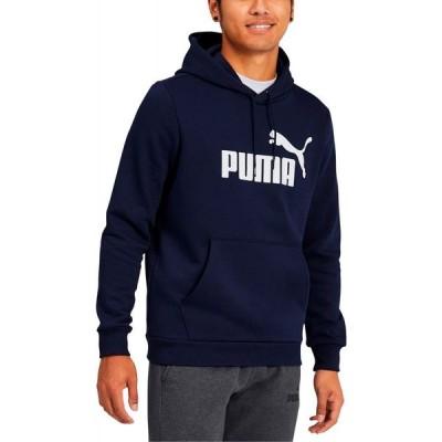 プーマ Puma メンズ パーカー トップス Fleece Logo Hoodie Blue