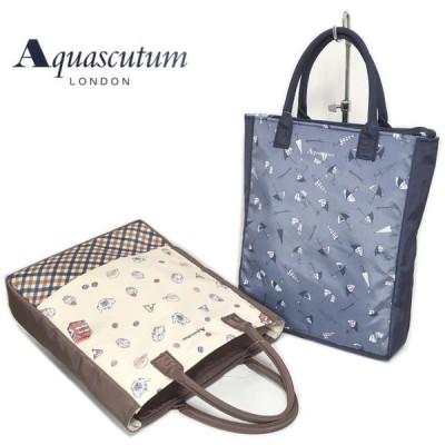 アクアスキュータム aquascutum サブバッグ トートバッグ 手提げ 縦型 女性  ミセス  鞄 レディース 軽い お稽古 41-aqsl-300tb