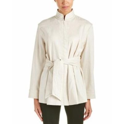 Josie ジョシー ファッション 衣類 Josie Natori Linen-Blend Jacket Xxs Beige