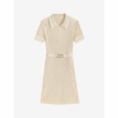 クローディ ピエルロ CLAUDIE PIERLOT レディース ワンピース ミニ丈 ワンピース・ドレス Macaron woven mini dress GOLD