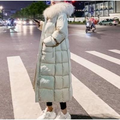 アウター レディース ロングコート ダウン コート ロング ファー フード 防寒 秋冬 大きいサイズ アウター レディース ロング ダウン