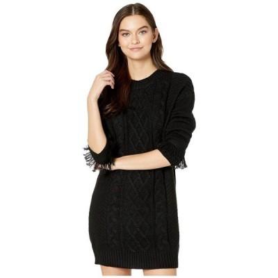 ジャック バイ ビービーダコタ レディース ワンピース トップス Cable That Way Front Sweater Dress with Wrist Fringe