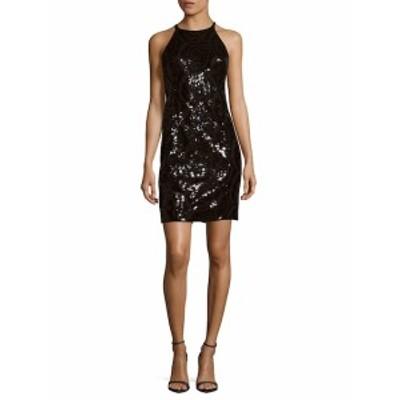 カルバンクライン レディース ワンピース Black Sequin Dress