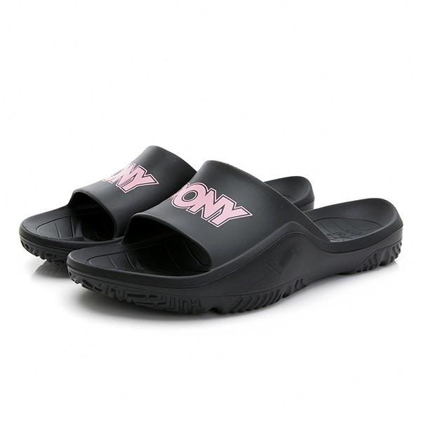 PONY 【02U1FL04BK】PARK-X 拖鞋 休閒 軟Q 厚底 黑粉 女生