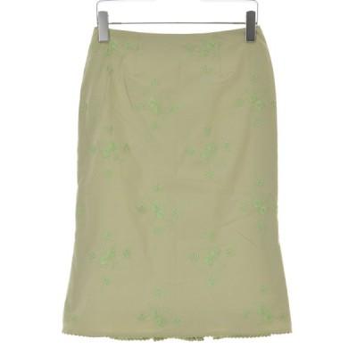 nanette lepore / ナネットレポー フラワー刺繍コットン スカート