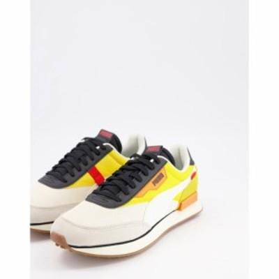 プーマ Puma メンズ スニーカー シューズ・靴 Future Rider Trainers In Yellow And Off White