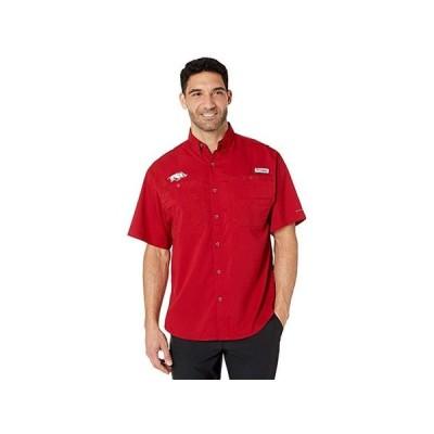 Columbia College Arkansas Razorbacks Collegiate Tamiami II Short Sleeve Shirt メンズ シャツ トップス Red Velvet