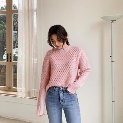 ENVYLOOK レディース ニット/セーター Cotton Candy Angora Knitwear