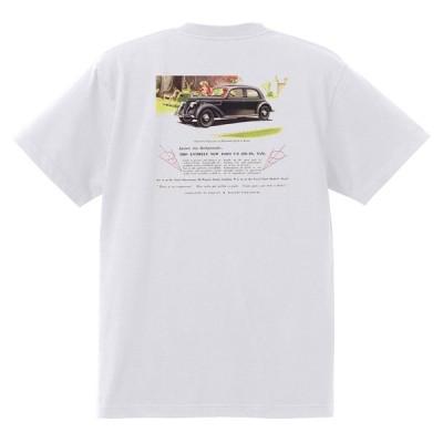 アドバタイジング フォード Tシャツ 白 1122 黒地へ変更可 1936 ホットロッド ローライダー ロカビリー アドバタイズメント トラック