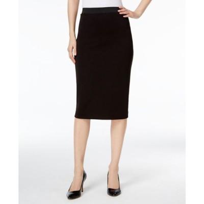 アルファニ Alfani レディース ひざ丈スカート スカート Below-Knee Pencil Skirt Deep Black