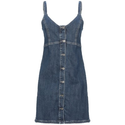 ベルナ BERNA ミニワンピース&ドレス ブルー XS コットン 98% / ポリウレタン 2% ミニワンピース&ドレス