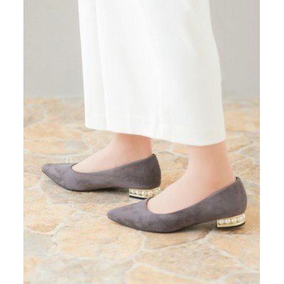 welleg from outletshoes / 大人上品 パールヒールパンプス WOMEN シューズ > パンプス
