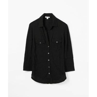 【トゥモローランド】 サイドパネルシャツ WUA3042 レディース ブラック 2(L) TOMORROWLAND
