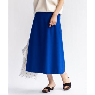 【イエナ】 《予約》ダブルクロスAラインスカート◆ レディース ブルーA 38 IENA