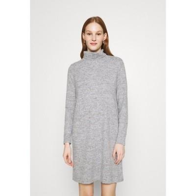 ピーシーズ ワンピース レディース トップス PCPAM HIGH NECK DRESS - Jumper dress - light grey melange