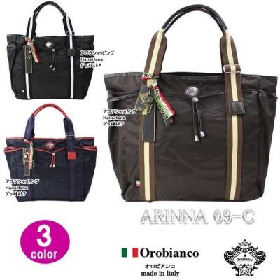 orobianco バッグ ARINNA 09-C アリンナ オロビアンコ トートバッグ ショルダーバッグ レザー リモンタナイロン ag-969600