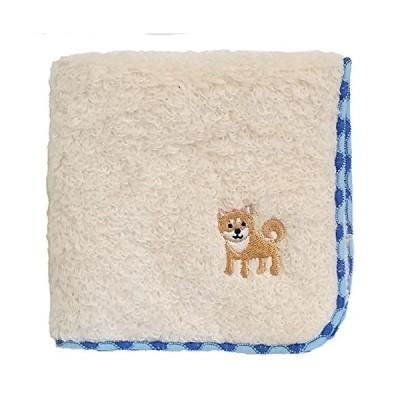 無撚糸パイルのハンドタオル かわいいワンちゃん刺繍付き (柴犬)