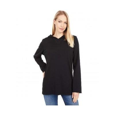 Lilla P リラP レディース 女性用 ファッション Tシャツ Modern Classics Easy Tunic Hoodie - Black