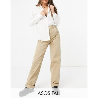 エイソス ASOS Tall レディース ボトムス・パンツ チノパン Asos Design Tall Slouchy Chino Trouser In Mushroom ライトベージュ