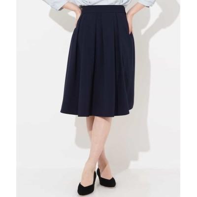 【オフオン】 フレアミディ丈カラースカート レディース ネイビー S OFUON