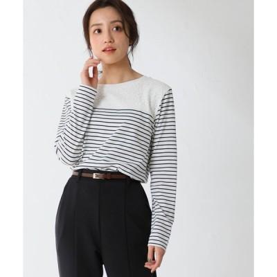 tシャツ Tシャツ レース切替Tシャツ
