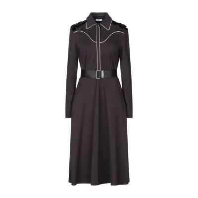 SFIZIO 7分丈ワンピース・ドレス スチールグレー 42 レーヨン 70% / ナイロン 26% / ポリウレタン 4% 7分丈ワンピース・ドレス