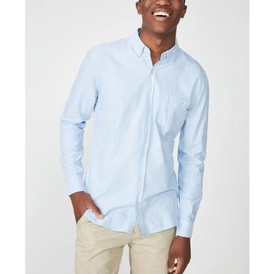 コットンオン シャツ トップス メンズ Men's Brunswick Long Sleeve Shirt Blue