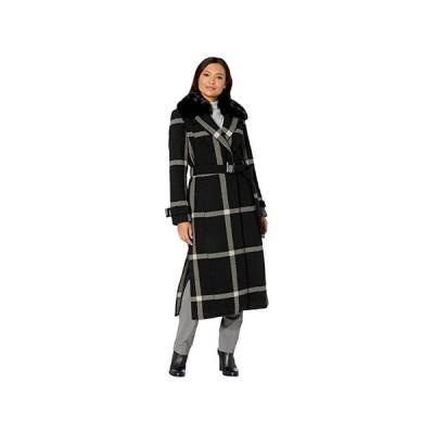 Vince Camuto Maxi Wool Coat V20767B レディース コート アウター Black/Grey 2