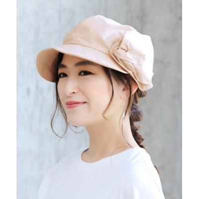 14+(ICHIYON PLUS) / ウォッシュコーティング生地巻花キャスケット WOMEN 帽子 > キャスケット