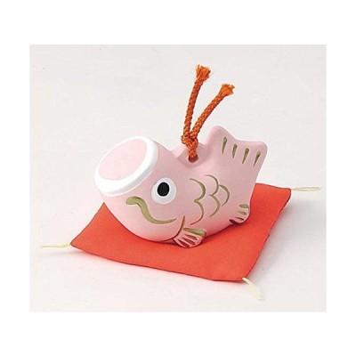 五月人形 コンパクト 陶器 小さい 鯉のぼり/鯉のぼり福鈴(小)ピンク/こどもの日 端午の節句 初夏 お祝い 贈り物 プレゼント
