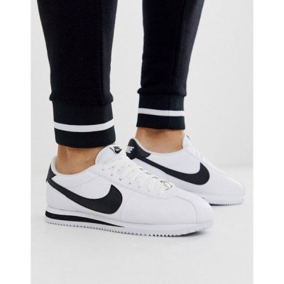 ナイキ メンズ スニーカー シューズ Nike cortez sneakers in white