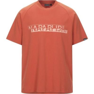 ナパピリ NAPAPIJRI メンズ Tシャツ トップス T-Shirt Orange