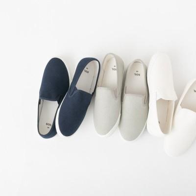 ソイル スリッポン スニーカー キャンバス クッション ホワイト 白 グレー ネイビー 紺 カジュアル SOIL CNSL1501