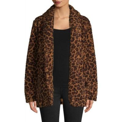 ロード アンド テイラー Lord & Taylor レディース コート アウター Cheetah Printed Coat トーストココナッツ