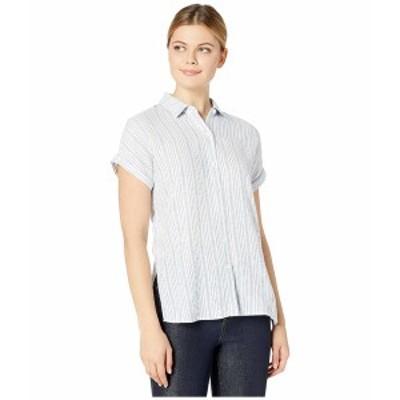 トッミーバハマ レディース シャツ トップス Tamil Stripe Short Sleeve Shirt Turkish Sea