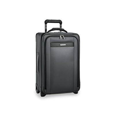 Briggs & Riley Transcend-Softside Expandable Tall Carry-On Upright Luggage, Slate, 22-Inch(並行輸入品)