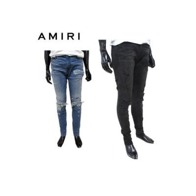 アミリ AMIRI メンズ パンツ ボトムス デニム 2color デストロイクラッシュスキニーデニムパンツ 黒/紺 MBREP REP BLACK/INDIGO (R168000) GP91S