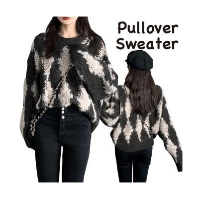 セーター トップス もこもこ ざっくり ニット きれいめ かわいい 上品 レディース ブラック フリーサイズ