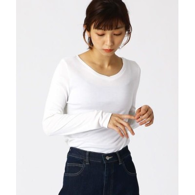 COMME CA ISM/コムサイズム 《 前後2way 》 ロングTシャツ ホワイト S