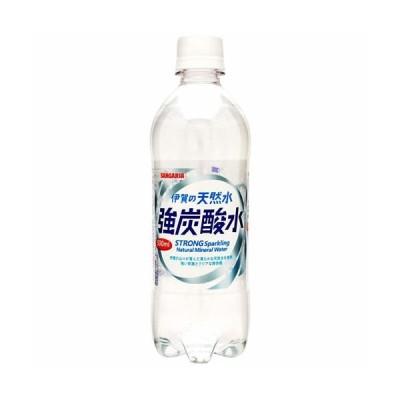 サンガリア 伊賀の天然水 強炭酸水 500ml 24本