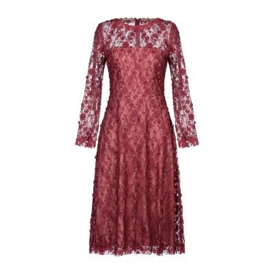 TADASHI SHOJI 7分丈ワンピース・ドレス ボルドー 10 ポリエステル 80% / ナイロン 20% 7分丈ワンピース・ドレス