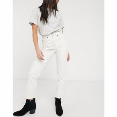 トップショップ Topshop レディース ジーンズ・デニム ボトムス・パンツ Editor straight leg jeans in off white ホワイト