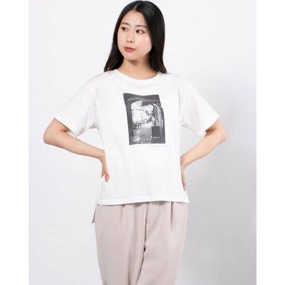 フォトプリントTシャツ (オフホワイト)