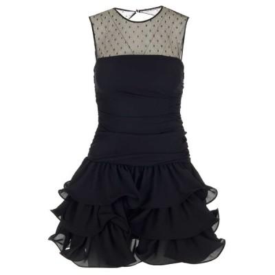 レッドヴァレンティノ レディース ワンピース トップス REDValentino Georgette Point D'Esprit Tulle Dress -